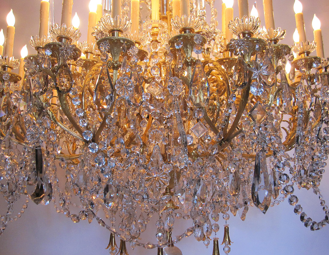 The Spelling Manor Grand Foyer Chandelier From The