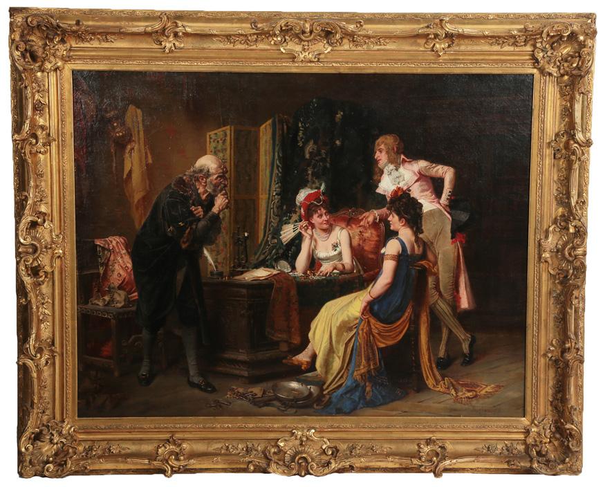 Victor Henri Juglar French B 1826 Oil On Canvas