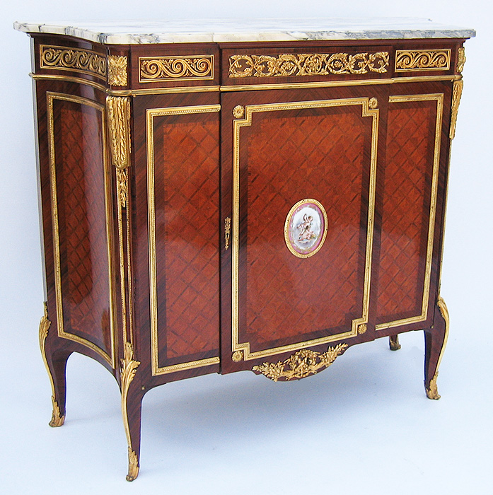 A french 19th century louis xv style gilt bronze mounted for Meuble for french furniture