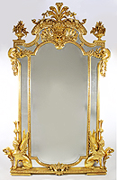 A Fine French Empire Revival 19th Century Gilt Wood And