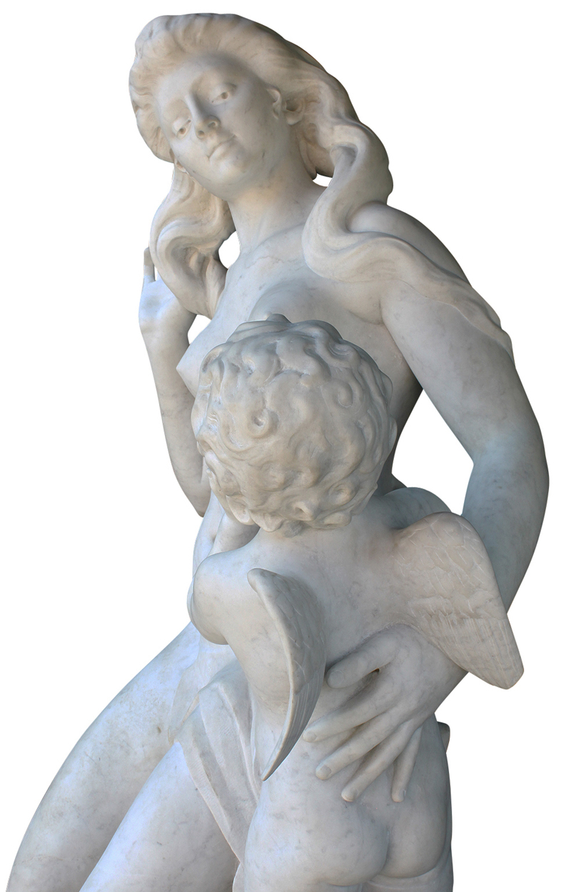 A Life-Size French 19th/20th Century Carved Marble
