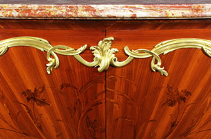 A superb quality french 19th century louis xv style ormolu mounted marquetry - Meuble style louis xv ...