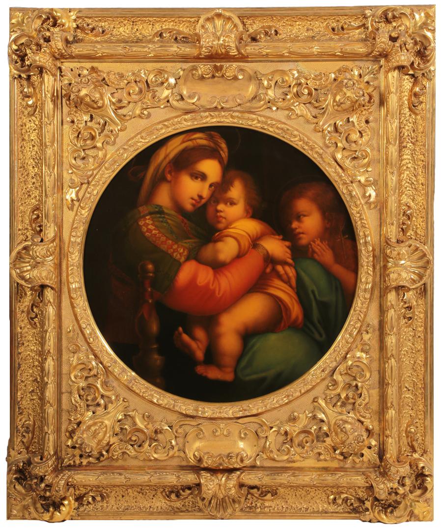 A Fine Italian 19th Century Oil Painting On Canvas Quot La