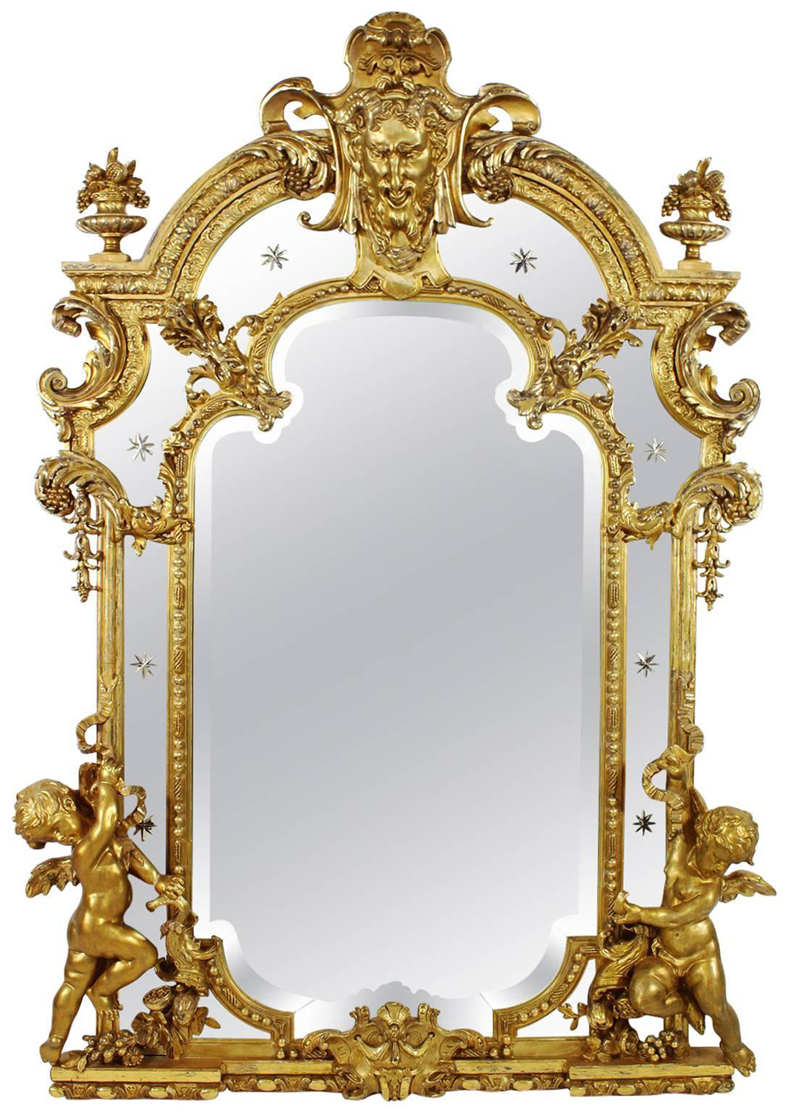 A Very Fine French 19th Century Louis Xv Style Gildwood