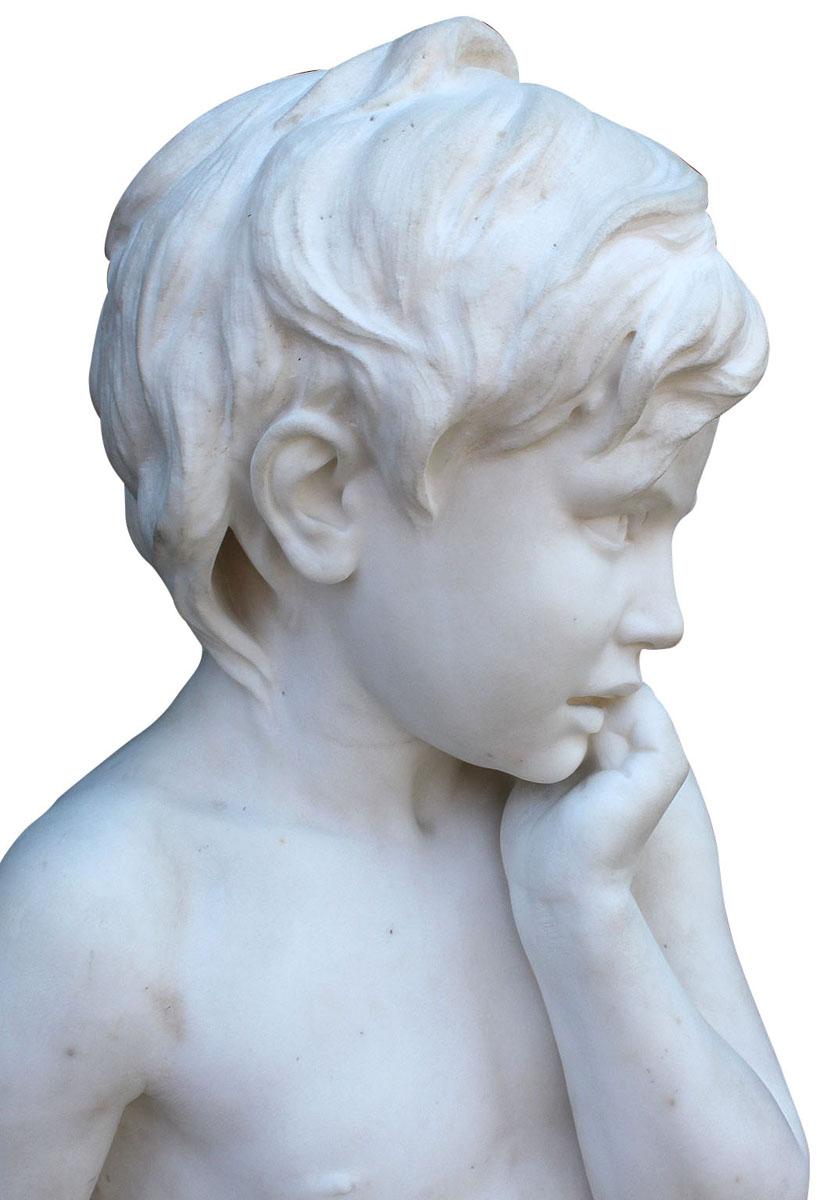 Greek Canosan Polychrome Statue of Nude Male
